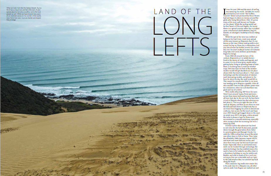 Land of the long lefts
